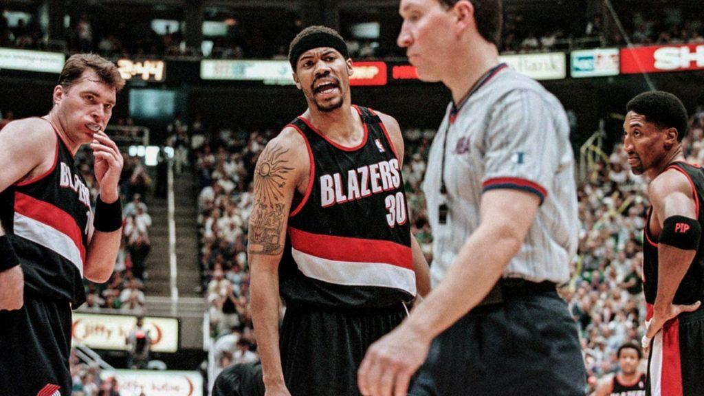 Rasheed Wallace Portland Trail Blazers