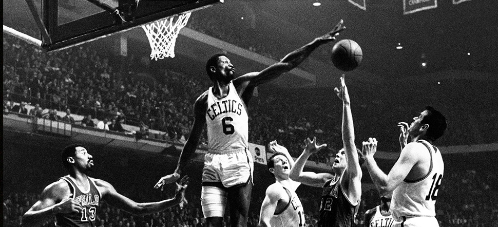 Boston Celtics Bill Russell Block
